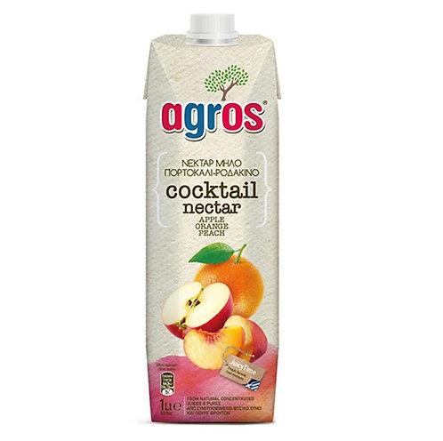 Cocktail Nectar Juice (Apple, Orange, Peach) 1 Lt Agros