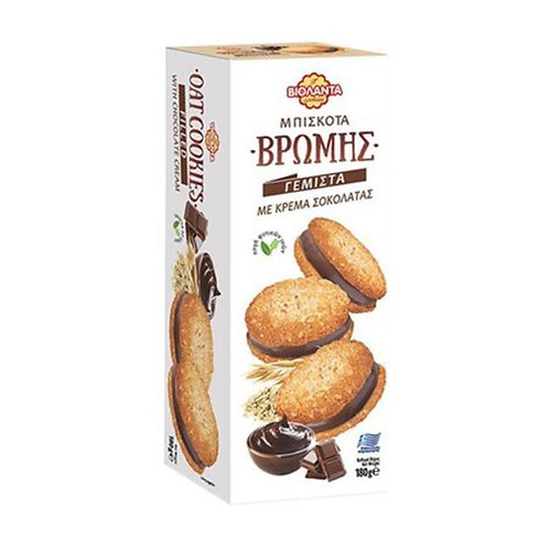Oatmeal Biscuits Filled with Chocolate Cream 180g Violanta
