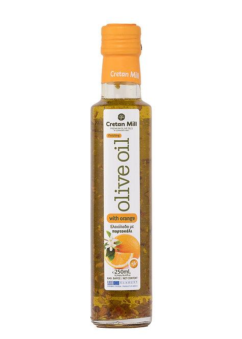 Olive Oil with Orange 250ml Cretan Mill