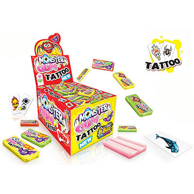 Monster Tattoo Bubble Gum