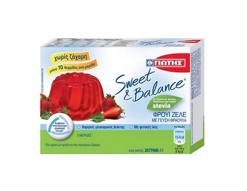 Sweet & Balance Strawberry Jelly with Stevia 20g Jotis