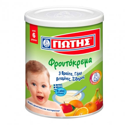 Wheat Cereal with Milk and 3 Fruits 300g Jotis