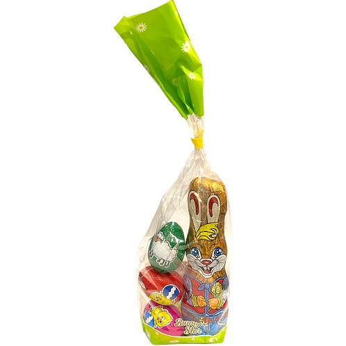 Chocolate Bunny with Chocolate Eggs 105g