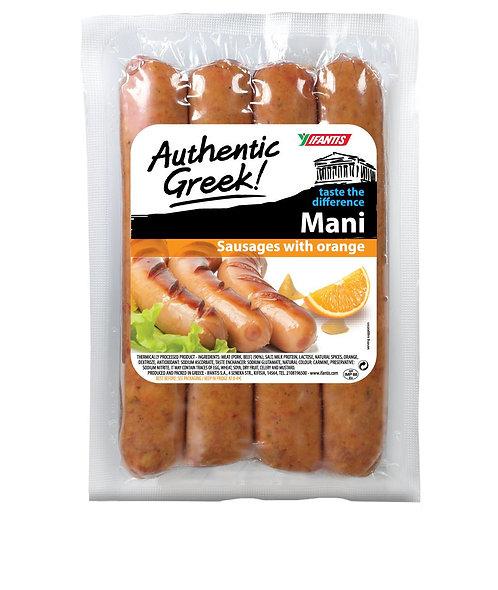 Sausages Mani with Orange 350g Ifantis