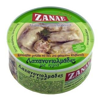 Stuffed Cabbage Rolls with Mean (Laxanodolmades) 280gr Zanae
