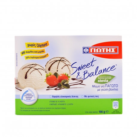 Sweet and Balance Mix for Ice cream Vanilla Flavour 166g