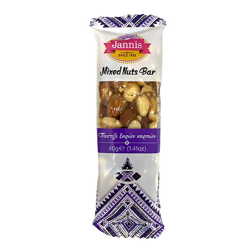 Greek Traditional Mixed Nuts Bar 40g Jannis