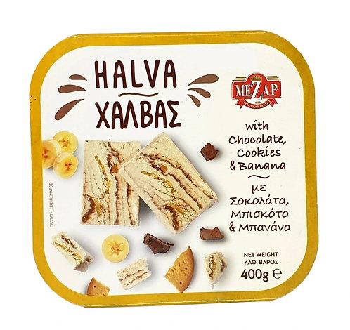 Halva with Chocolate, Cookies and  Banana 400g Mezap