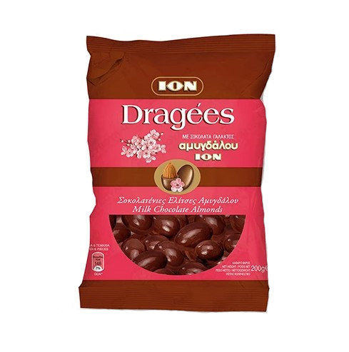 Dragees Milk Chocolate with Almond (Elitses) 200g ION