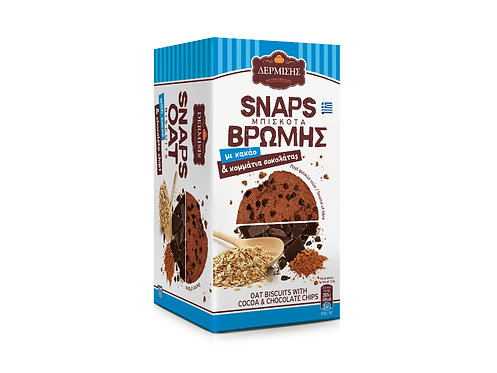Snaps Oat Biscuits with Cocoa and Dark Chocolate Chips 80g Dermisis