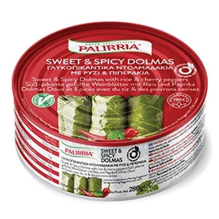 Sweet and Spicy Vine Leaves 280g Palirria