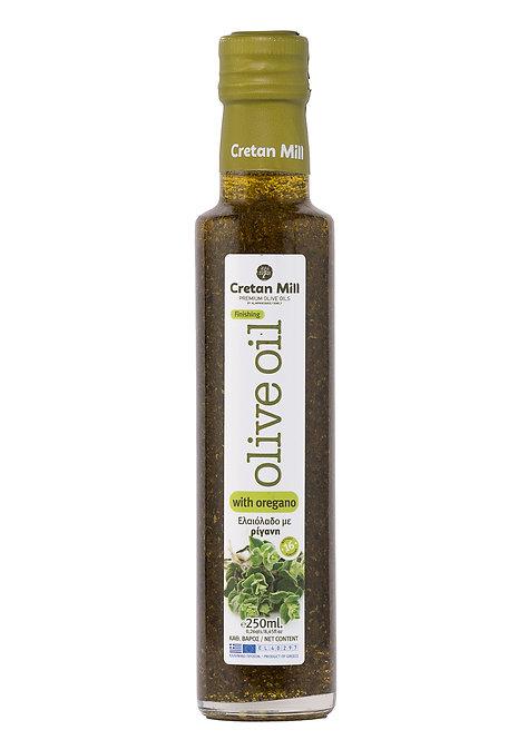 Olive Oil with Oregano 250ml Cretan Mill