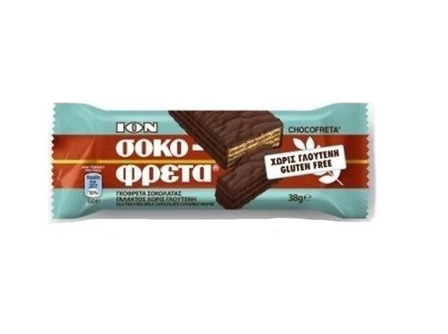 Gluten Free ION Chocofreta - Milk Chocolate Covered Wafer 38g