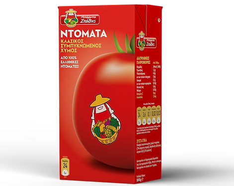 Slightly Concentrated Tomato Juice 500g Barba Stathis