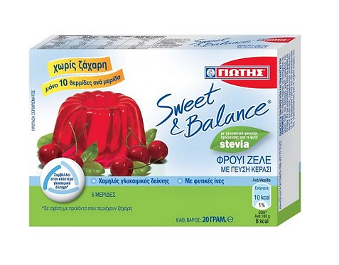 Sweet & Balance Cherry Jelly with Stevia 20g Jotis