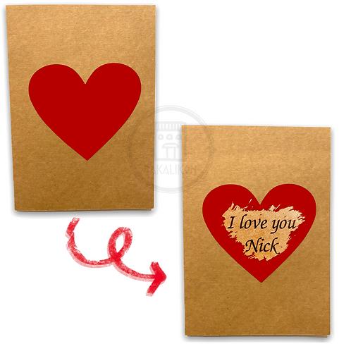 Scratch Heart Card