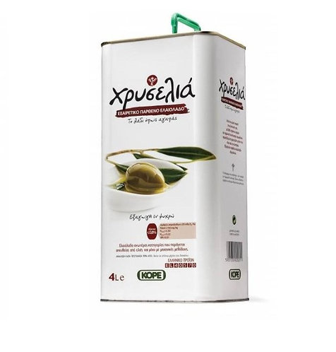 Chriselia Extra Virgin Olive Oil 4 Lt