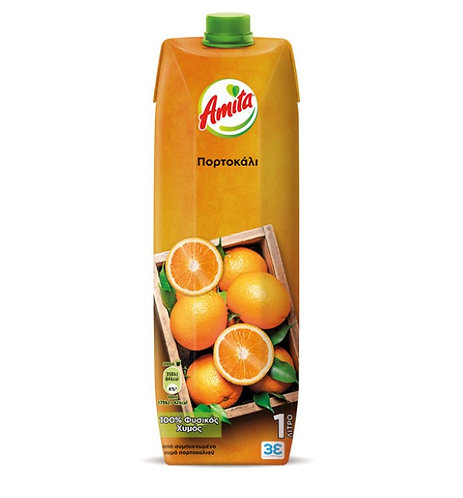 100% Orange  Juice 1lt Amita