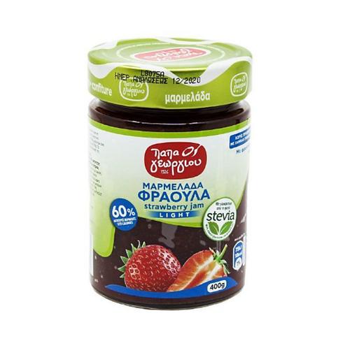 Strawberry Jam Light with Stevia 400g Papageorgiou