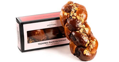 Tsoureki Vanilla Cocoa with Hazelnut Praline 670g Chrisanthidis