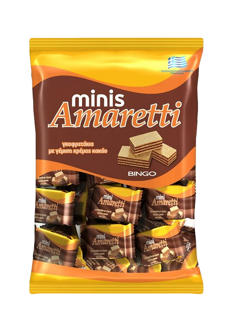 Mini Wafer Bites with Cocoa Cream Filling 165g Amaretti