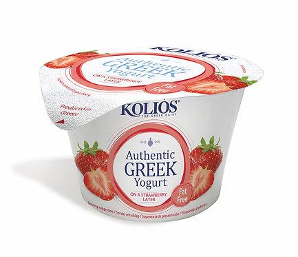 Greek Yogurt 0% with Strawberry 150g Kolios