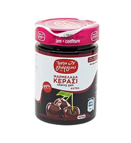 Cherry Jam 420g Papageorgiou
