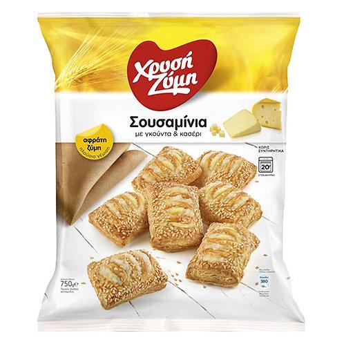 Sesame Bites with Gouda and Kasseri Cheese 750g Xrisi Zimi
