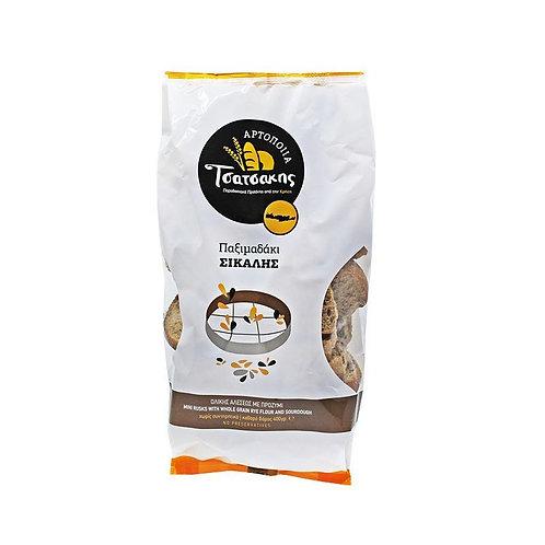 Mini Cretan Rusks with Whole Grain Rye Flour and Sourdough 400g Tsatsakis