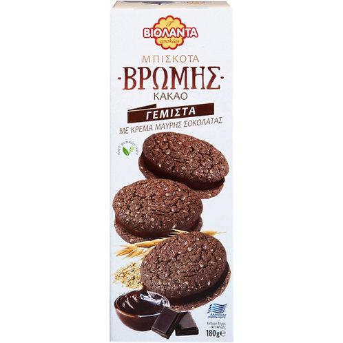 Oatmeal Biscuits Filled with Dark Chocolate Cream 180g Violanta