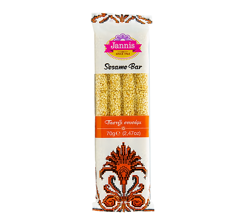 Greek Traditional Sesame Bar (Pasteli) 70g Jannis