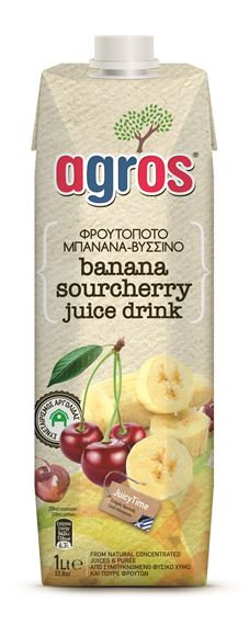 Banana and Sour Cherry Juice 1Lt Agros