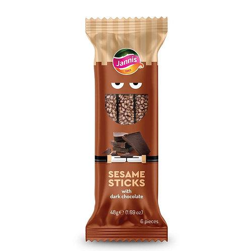 Sesame Sticks with Dark Chocolate 48g Jannis
