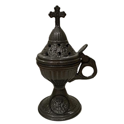 Home Incense Burner (Livanistiri) Black Silver