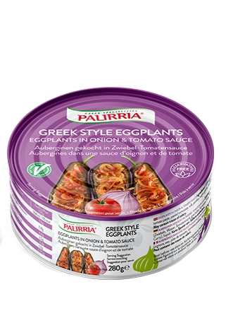 Greek Style Eggplants in Onion and Tomato Sauce 280g Palirria