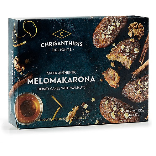 Melomakarona with Honey and Walnuts 430g Chrisanthidis