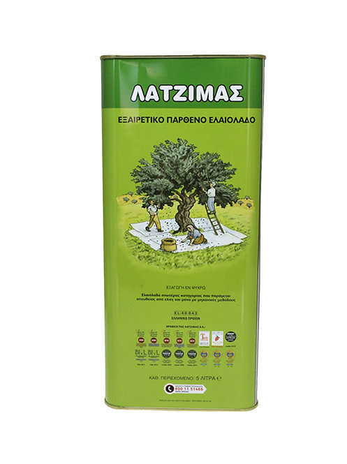 Latzimas Extra Virgin Olive Oil 5 Lt Cold Pressed