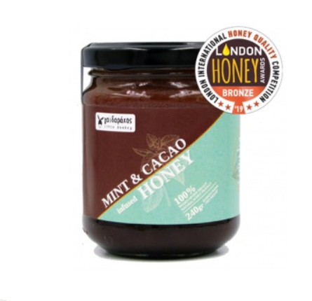 Mint Infused Honey with Cacao 240g Little Donkey