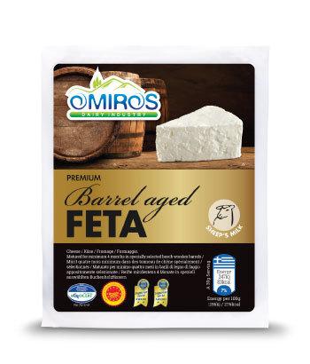 Premium Barrel Aged Feta Cheese 200g Omiros