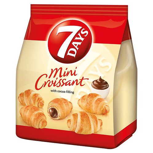 Mini Croissants with Cocoa Filling 107g 7Days