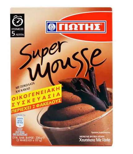 Super Mousse with Chocolate and Cocoa 234g (2x117g) Jotis