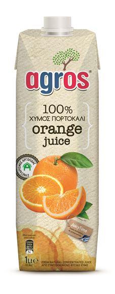 100% Orange Juice 1 Lt Agros