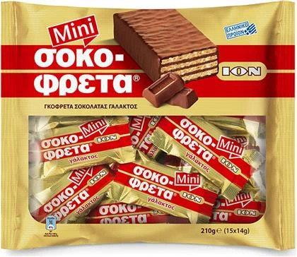 ION Mini Chocofreta Milk Chocolate Covered Wafer 210g