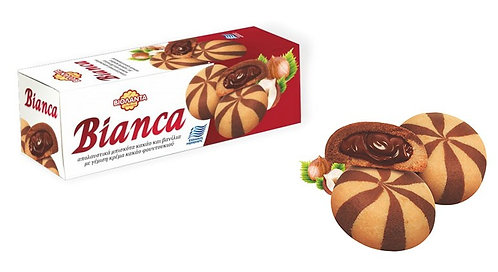 Bianca Filled Biscuits with Hazelnut Cream 150g Violanta