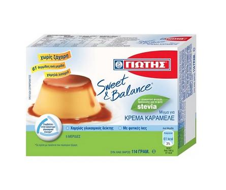 Sweet & Balance Crème Caramel with Stevia 114g Jotis