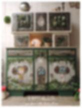 buffet mado relooké, meuble peint par mamzelle terebenthine