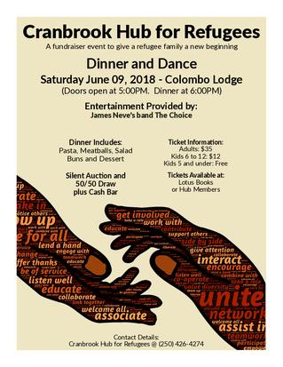 Cranbrook Hub for Refugees - Dinner & Dance