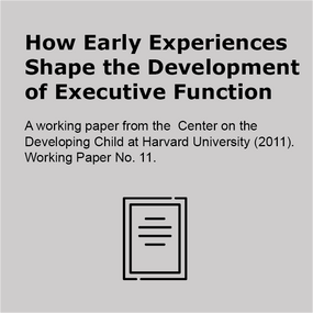 How early experiences shape the development of executive function