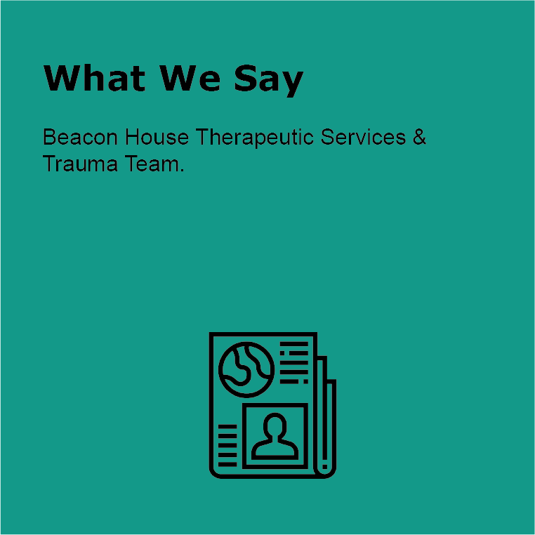 What we say Beacon House