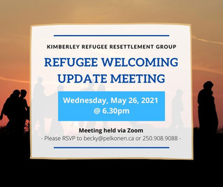 ZOOM UPDATE MEETING – Wednesday, May 26, 2021 @ 6.30pm